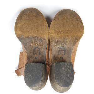 ALDO Shoes - Aldo Brown Leather Slouchy Cowboy Bootie Sz 38